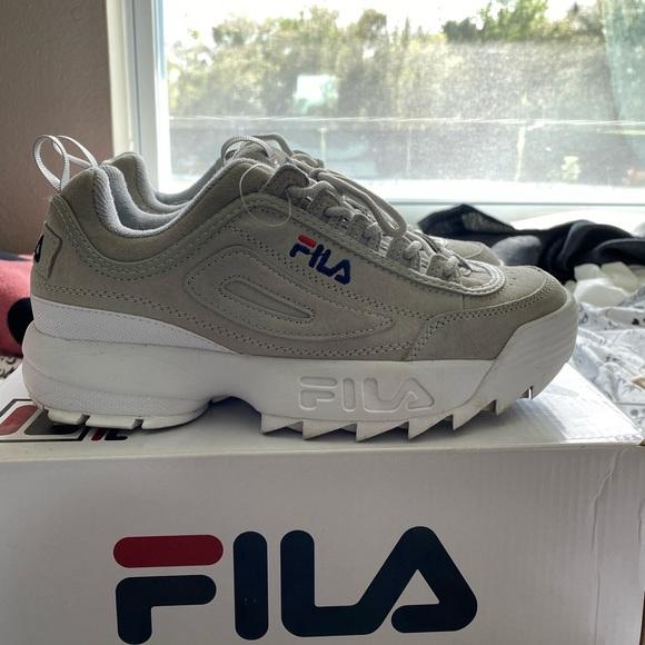 Fila Shoes   Grey Suede S   Poshmark